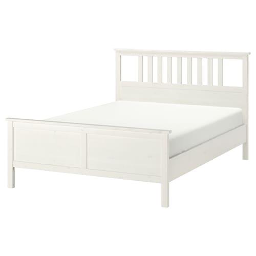 HEMNES هيكل سرير صباغ أبيض/Luroy 211 سم 154 سم 66 سم 120 سم 200 سم 140 سم