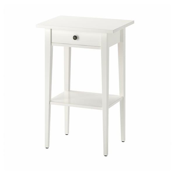HEMNES طاولة سرير جانبية أبيض 46 سم 35 سم 70 سم
