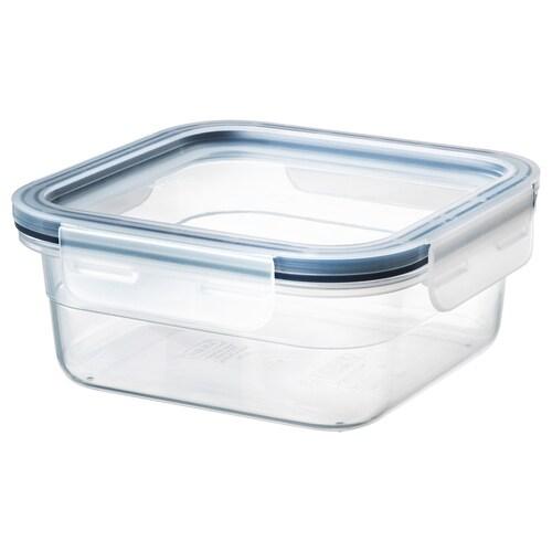 IKEA 365+ حاوية طعام مع غطاء مربّع/بلاستيك 15 سم 15 سم 7 سم 750 مل