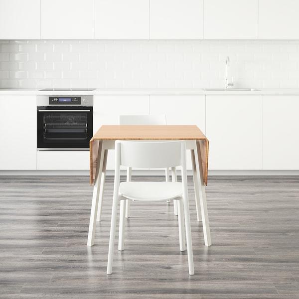 IKEA PS 2012 / JANINGE طاولة و4 كراسي خيزران/أبيض 106 سم 74 سم 138 سم 80 سم 74 سم