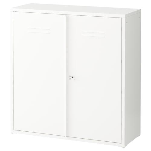 IVAR خزانة مع أبواب أبيض 80 سم 30 سم 83 سم 25 كلغ