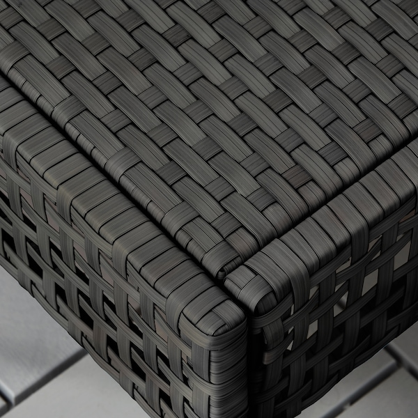 KUNGSHOLMEN مقعد، خارجي أسود-بني 62 سم 62 سم 34 سم