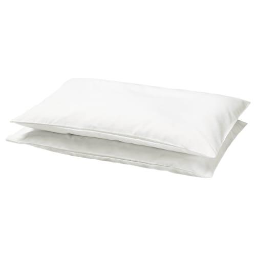 LEN غطاء مخدة لمهد أبيض 55 سم 35 سم 2 قطعة
