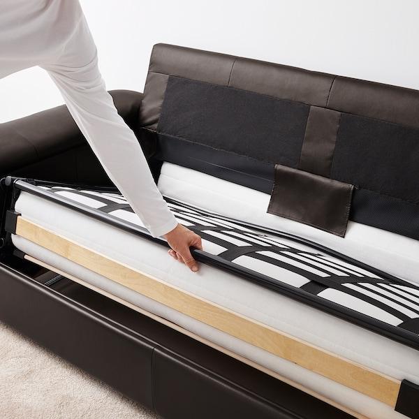 LIDHULT قسم كنبة-سرير بمقعدين Grann/Bomstad بني غامق 95 سم 76 سم 160 سم 97 سم 53 سم 38 سم 140 سم 200 سم