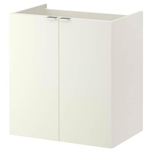 LILLÅNGEN خزانة الحوض مع بابين أبيض 60 سم 38 سم 64 سم
