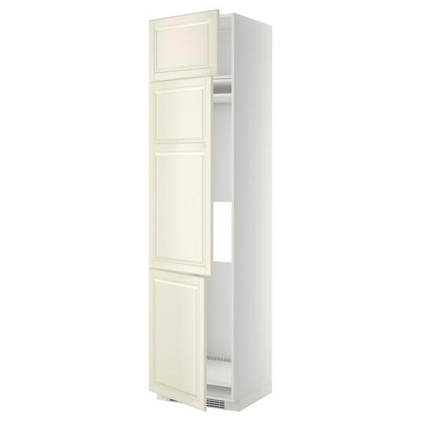 METOD خزانة مرتفعة ثلاجة/فريزر مع 3 أبواب أبيض/Bodbyn أبيض-عاجي 60.0 سم 61.9 سم 248.0 سم 60.0 سم 240.0 سم