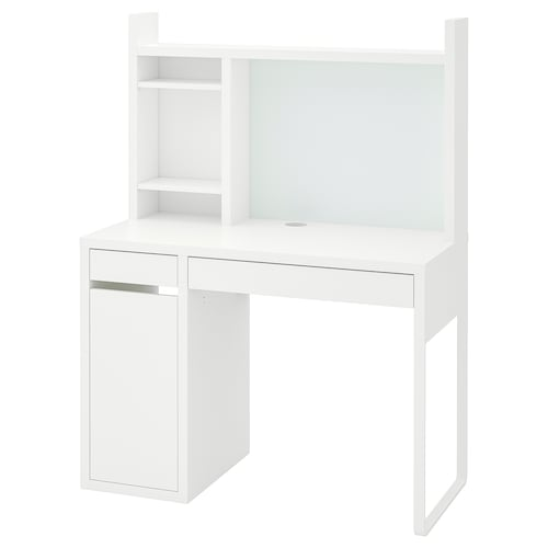 MICKE مكتب أبيض 105 سم 50 سم 140 سم