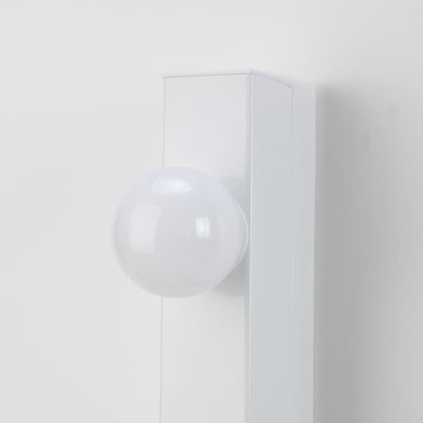 MUSIK مصباح حائط، تركيب بسلك داخلي أبيض 75 واط 60 سم 6 سم