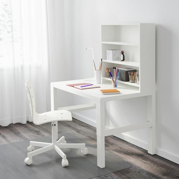 PÅHL مكتب مع وحدة أرفف أبيض 96 سم 58 سم 119 سم 132 سم 50 كلغ