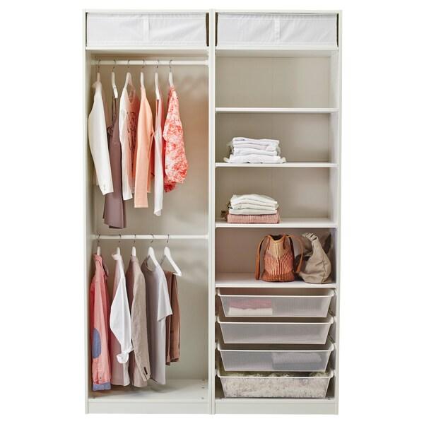 PAX دولاب ملابس أبيض/Hasvik أبيض 150 سم 66 سم 236.4 سم