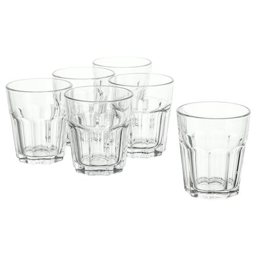 POKAL كأس زجاج شفاف 10 سم 27 سل 6 قطعة