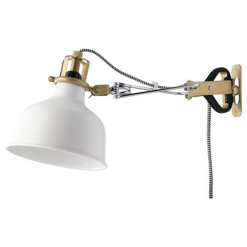 RANARP مصباح توجيهي للحائط أبيض-عاجي 7 واط 14 سم 34 سم 12 سم 14 سم 350.0 سم