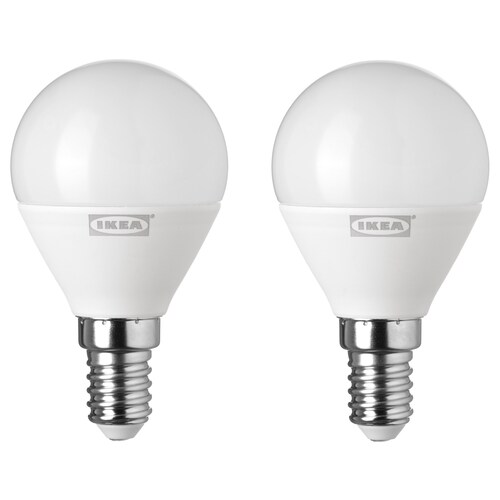 RYET لمبة LED E14 400 lumen كرويّة أبيض أوبال 400 لومن 2 قطعة