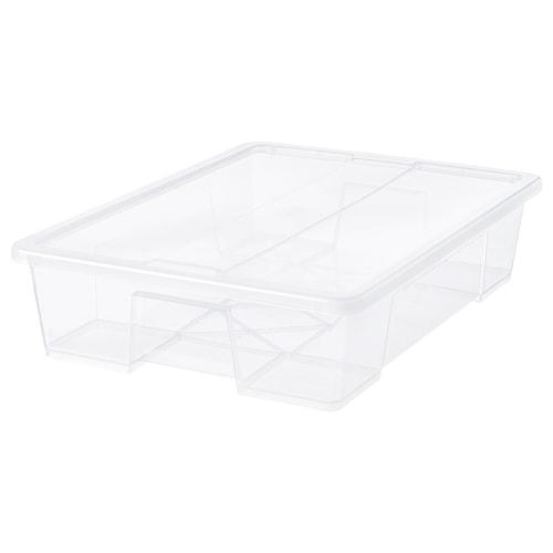 SAMLA صندوق بغطاء شفاف 79 سم 57 سم 18 سم 55 ل