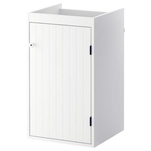 SILVERÅN خزانة الحوض مع 1 باب أبيض 40 سم 38 سم 67.6 سم