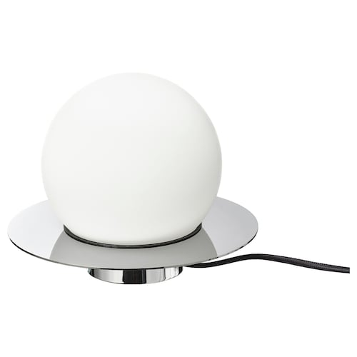 SIMRISHAMN مصباح طاولة/حائط طلاء كروم/أبيض أوبال زجاج 21 سم 16 سم 200 سم