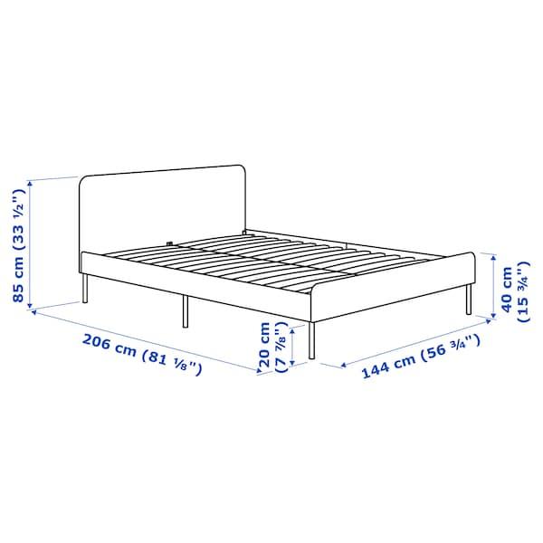 SLATTUM هيكل سرير بتنجيد Knisa رمادي فاتح 206 سم 144 سم 40 سم 85 سم 200 سم 140 سم