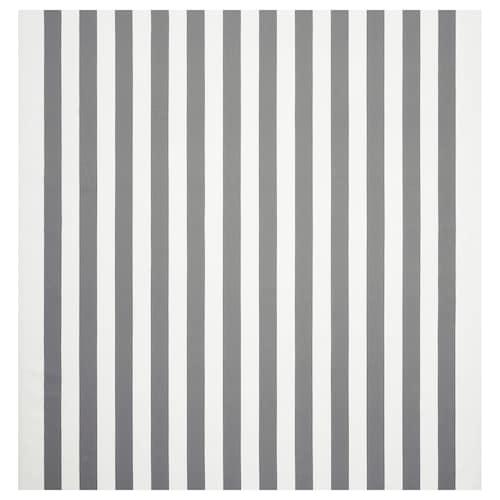 SOFIA قماش عريض-مقلّم/أبيض/رمادي 280 g/m² 150 سم 1.50 م²