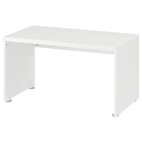 STUVA مقعد طويل أبيض 90 سم 50 سم 50 سم
