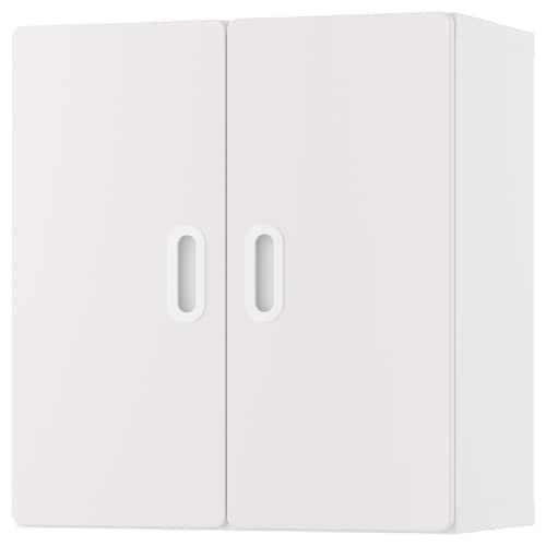 STUVA / FRITIDS خزانة حائطية أبيض/أبيض 60 سم 30 سم 64 سم