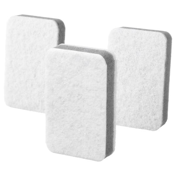 SVAMPIG إسفنج رمادي-أبيض 11 سم 7 سم 3 قطعة