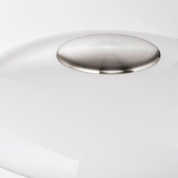 TÄLLBYN مصباح ارضي طلاء - نيكل/أبيض أوبال زجاج 135 سم 35 سم 40 سم 200 سم 13 واط