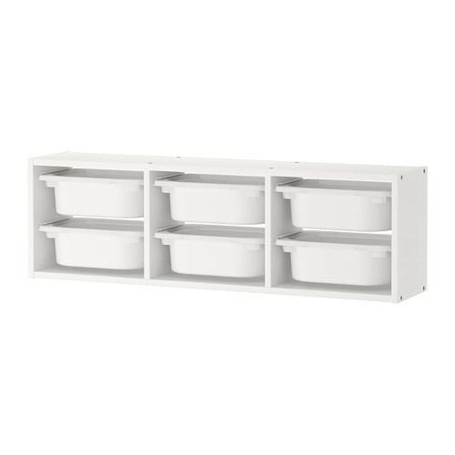 خزانة الحائط Trofast أبيض أبيض
