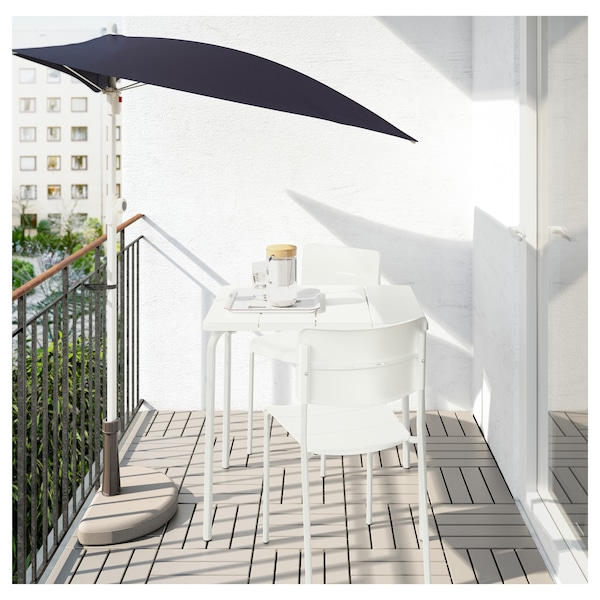 VÄDDÖ طاولة+2كراسي، خارجية أبيض