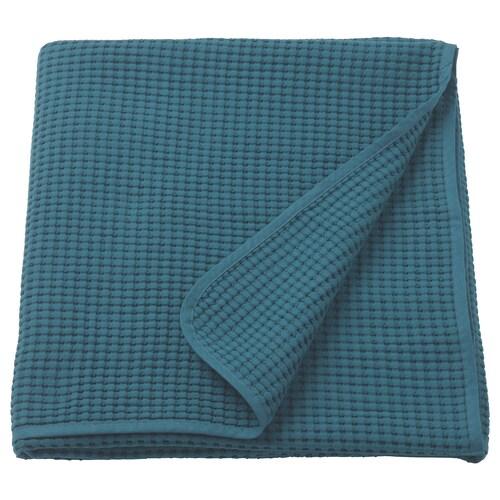 VÅRELD غطاء سرير أزرق غامق 250 سم 150 سم