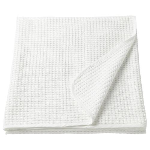 VÅRELD غطاء سرير أبيض 250 سم 150 سم