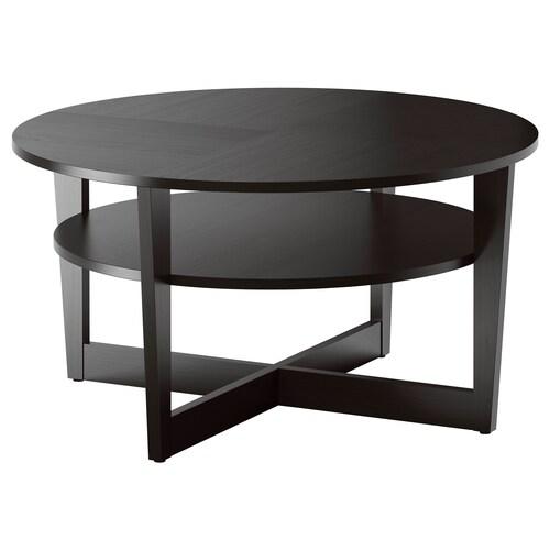 VEJMON طاولة قهوة أسود-بني 48 سم 90 سم