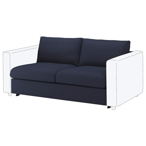 VIMLE قسم كنبة-سرير بمقعدين Orrsta أسود-أزرق 53 سم 83 سم 68 سم 160 سم 98 سم 241 سم 55 سم 48 سم 140 سم 200 سم 12 سم
