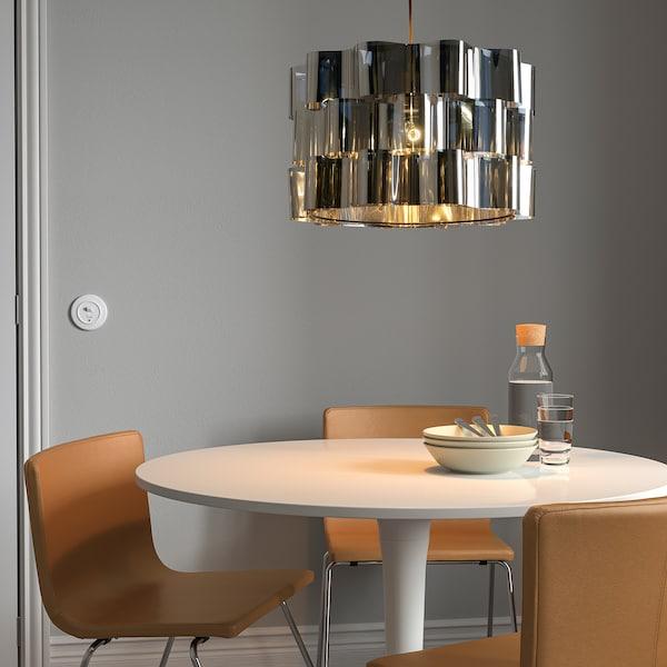 ÄLVSTARR / HEMMA Pendant lamp, chrome effect, 51 cm