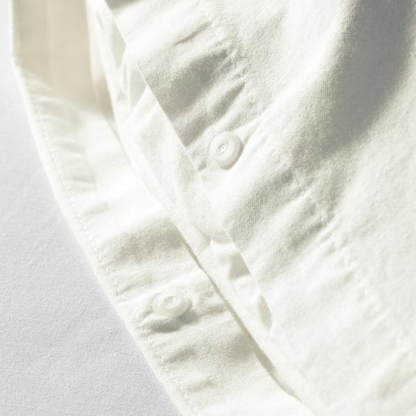 ÄNGSLILJA Quilt cover and 2 pillowcases, white, 240x220/50x80 cm