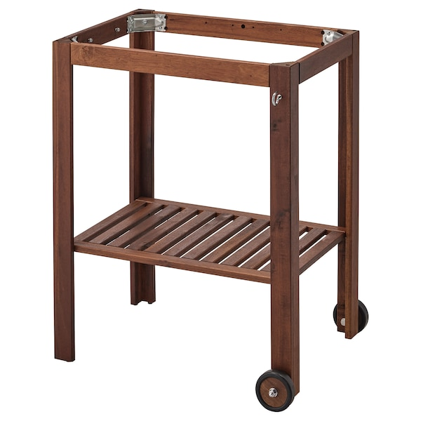 ÄPPLARÖ underframe, outdoor brown stained 77 cm 58 cm 88 cm