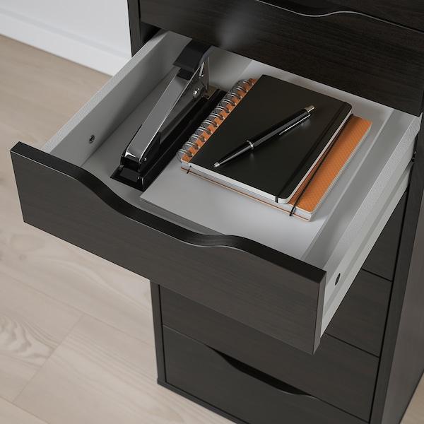 ALEX Drawer unit with 9 drawers, black-brown, 36x116 cm