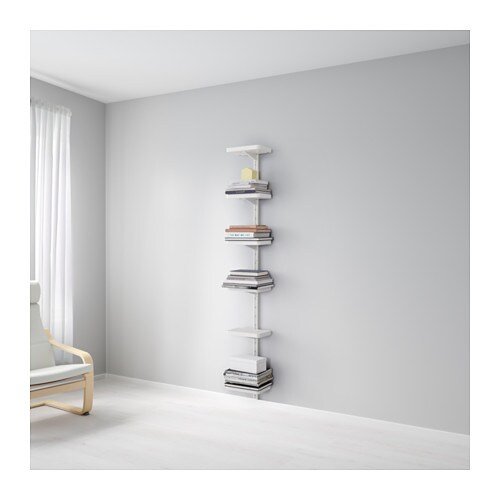 ALGOT Wall upright/shelves   The parts in the ALGOT series can be combined in many different ways and so can easily be adapted to needs and space.