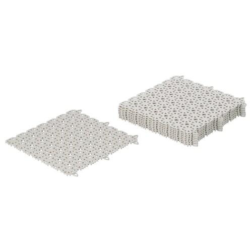 ALTAPPEN floor decking, outdoor light grey 0.81 m² 30 cm 30 cm 0.6 cm 0.09 m² 9 pieces