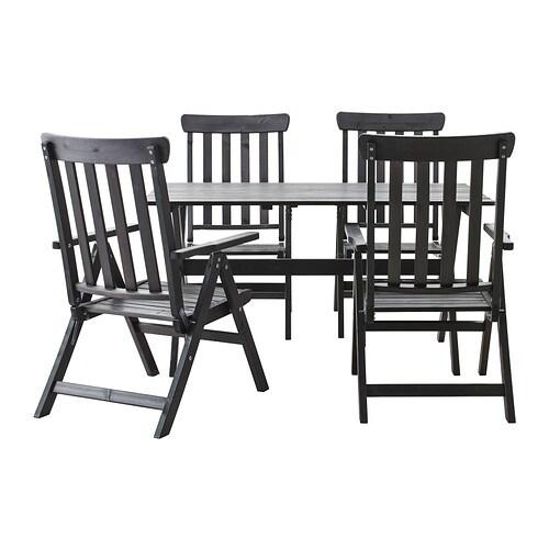 ÄNGSÖ Table+4 Reclining Chairs, Outdoor