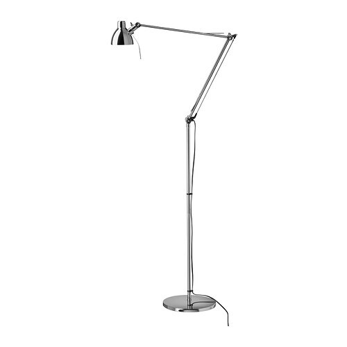 ANTIFONI Floor/reading lamp   You can easily direct the light where you want it because the lamp arm and head are adjustable.