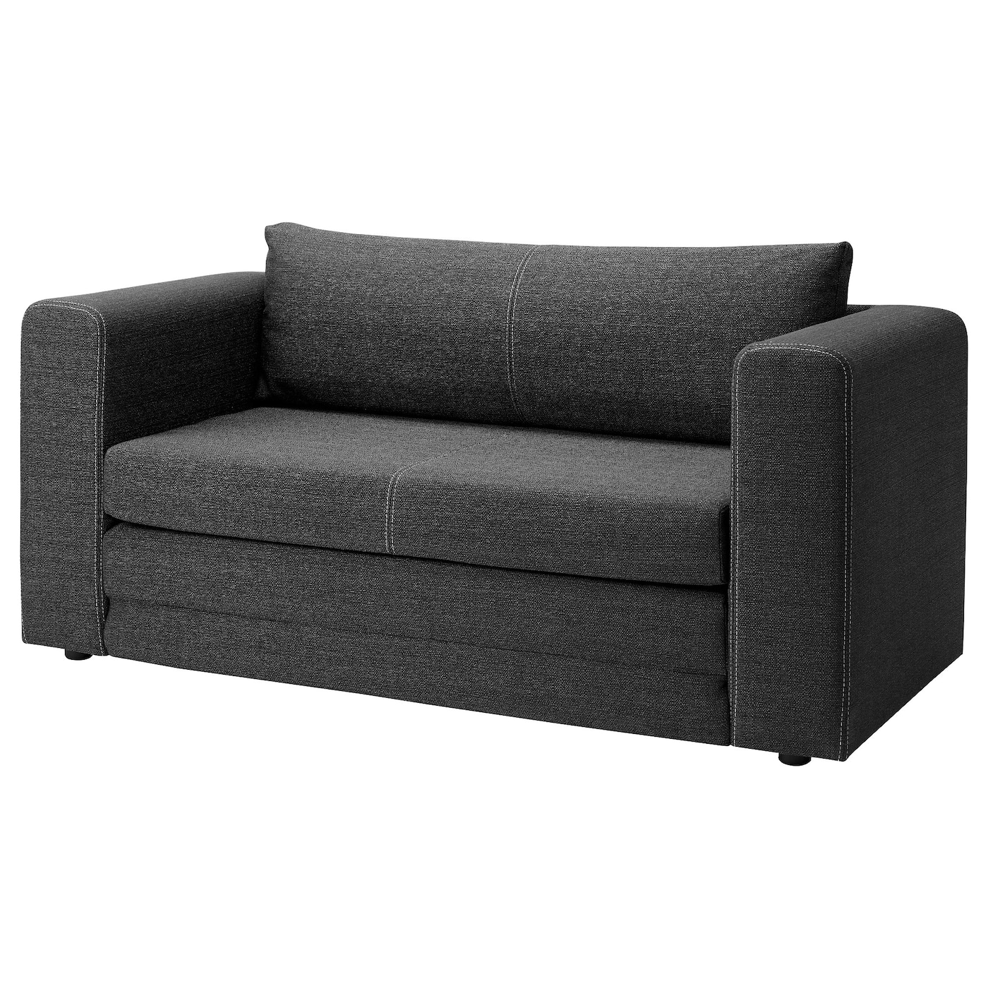 ASKEBY Two-seat sofa-bed - grey - IKEA