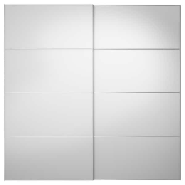 AULI Pair of sliding doors, mirror glass, 200x201 cm