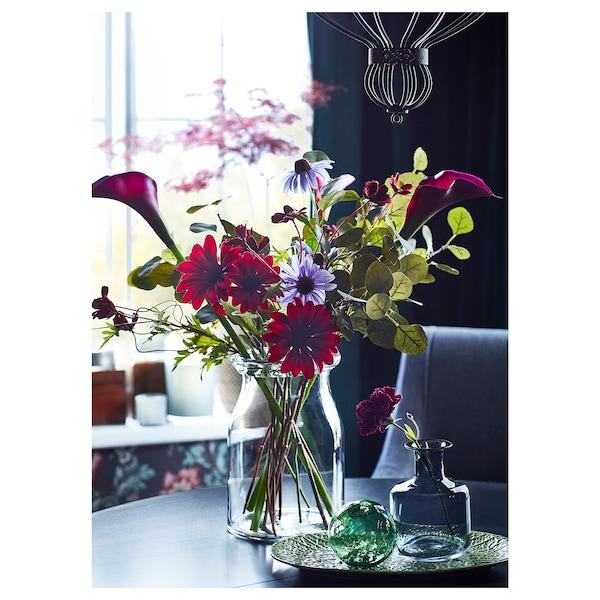 BEGÄRLIG Vase, clear glass, 29 cm