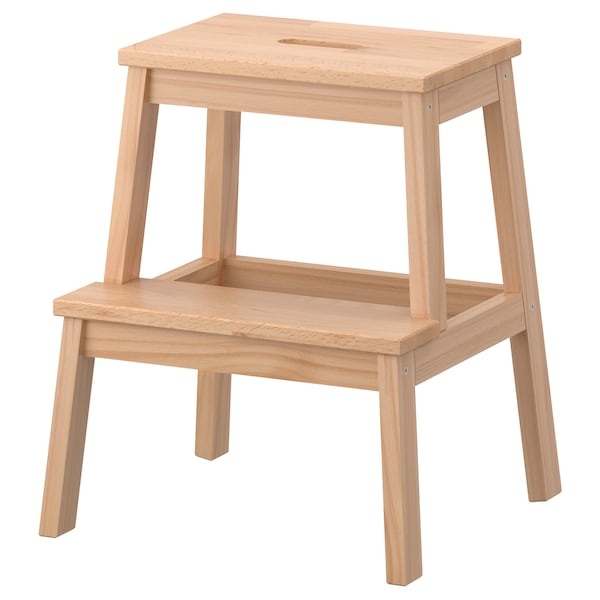 Peachy Step Stool Bekvam Beech Creativecarmelina Interior Chair Design Creativecarmelinacom