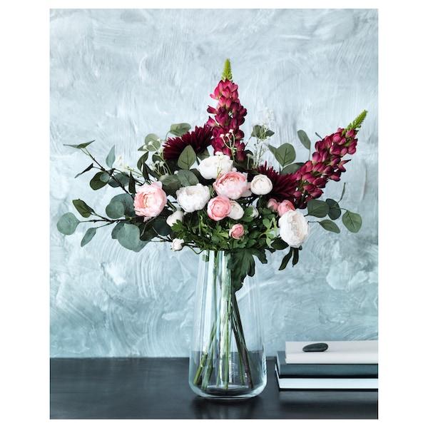 BERÄKNA Vase, clear glass, 30 cm