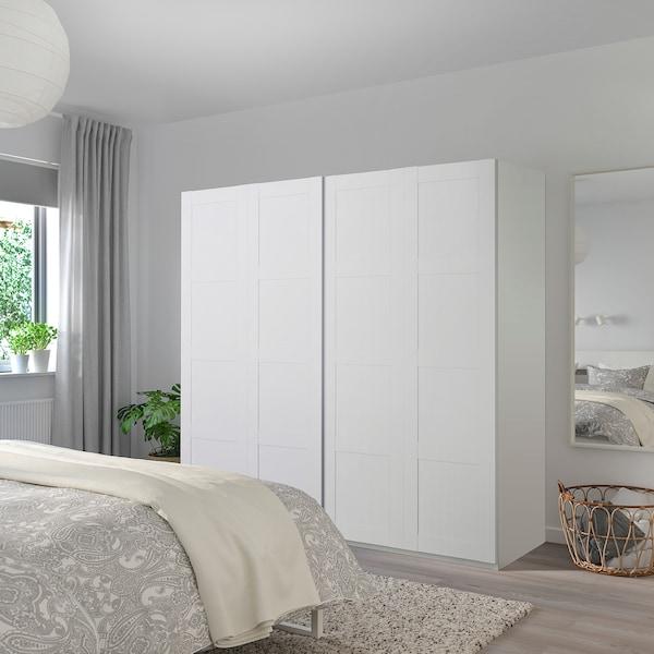 BERGSBO Pair of sliding doors, white, 200x201 cm