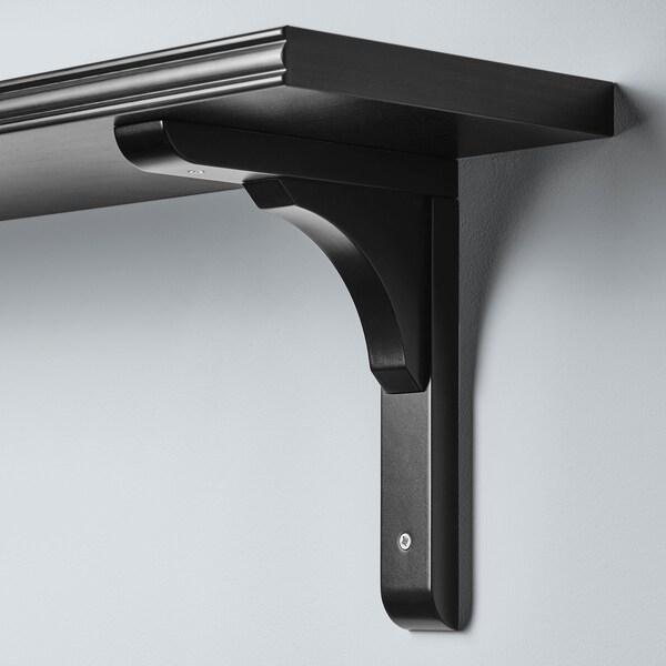 BERGSHULT / RAMSHULT Wall shelf, brown-black, 120x20 cm