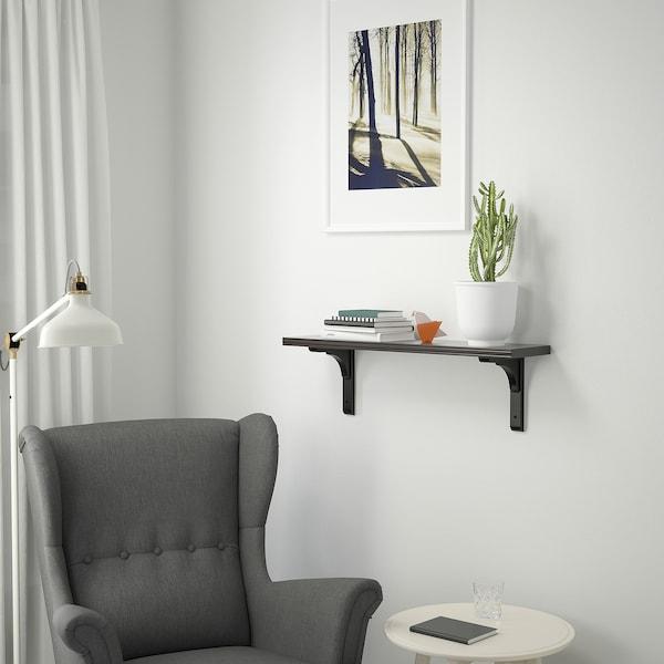 BERGSHULT / RAMSHULT Wall shelf, brown-black, 80x20 cm