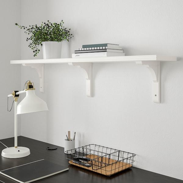 BERGSHULT / RAMSHULT Wall shelf, white, 120x20 cm