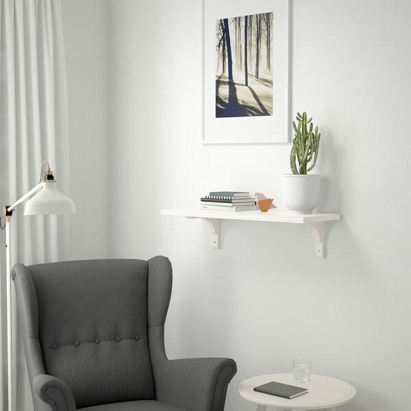 BERGSHULT / RAMSHULT Wall shelf, white, 80x30 cm